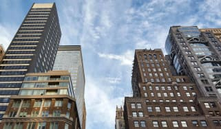 View of apartment and office towers in Midtown Manhattan, New York City