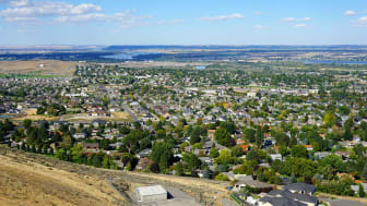 A residential area of Kennewick, Wash.