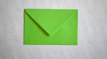 A green envelope