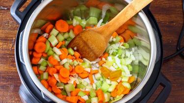 Homemade minestrone soup, traditional Italian food recipe.