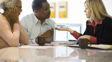 Financial Advisor Assisting Senior Couple