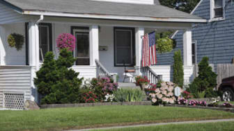 American Home Front Flowers Flag