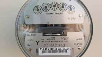 Electric meter on home in Florida