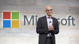 BELLEVUE, WA - DECEMBER 3: Microsoft CEO Satya Nadella addresses shareholders during Microsoft Shareholders Meeting December 3, 2014 in Bellevue, Washington. The meeting was the first for Nad