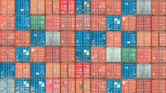 Photo illustration of shipping containers