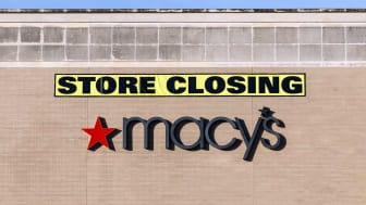 Deerfield - Circa June 2019: Macy's mall location and Store Closing sign. Macys plans to continue closing stores in 2019 III