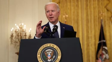 picture of President Biden giving a speech at a podium