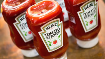 CHICAGO, IL - MARCH 25: In this photo illustration, Heinz Tomato Ketchup is shown on March 25, 2015 in Chicago, Illinois. Kraft Foods Group Inc. said it will merge with H.J. Heinz Co. to form