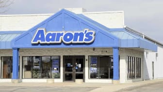 Fort Collins, Colorado, USA - November 8, 2012: An Aaron's Rental Center in Fort Collins. With over 2000 locations in the US, Aaron's is a lease to own business.