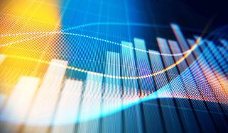 Concept art of stocks going higher