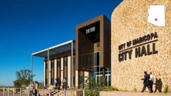 Exterior of Maricopa, Ariz., city hall