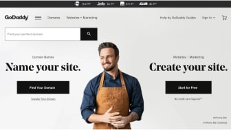 Screenshot of GoDaddy.com