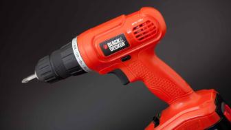 A Black & Decker cordless drill