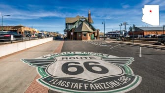 A part of the famous Route 66 in Flagstaff, Ariz.