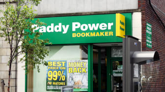 Beckenham, England - May 8, 2011: A branch of the Paddy Power bookmaker's chain in a London suburb. The company was formed in 1988 and is the leading Irish 'bookies', as well as being one of