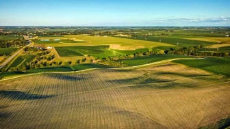 Aerial View Of Midwestern Green Landscape 2