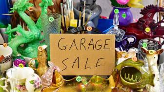 A garage sale in progress.