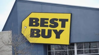 LEVITTOWN, NEW YORK- MARCH 16: An image of the sign for Best Buy as photographed on March 16, 2020 in Levittown, New York. (Photo by Bruce Bennett/Getty Images)