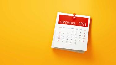 picture of September 2021 calendar