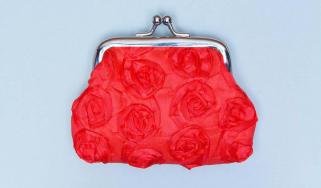 A red change purse.