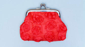 A red change purse.