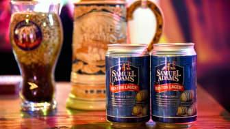 cans of Sam Adams beer