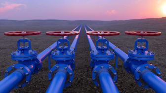 blue oil and gas pipelines