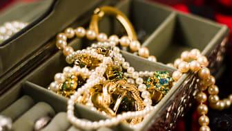 A jewelry box full of jewelry