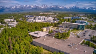 Aerial View of the Main Campus of the State University in Anchorage, Alaska