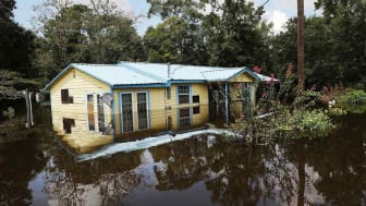 Photo of flooded house