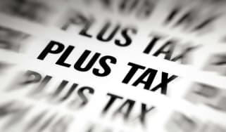 """picture of """"plus tax"""" written over and over again"""