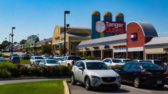 Lancaster, Panama - August 20, 2016: The Tanger Outlets in Lancaster County is a popular destination for shoppers seeking a diverse mix of stores.