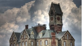The Worcester State Lunatic Hospital in Worcester, Mass.