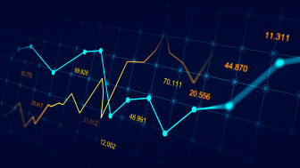 picture of computer screen with stock market charts showing market increases