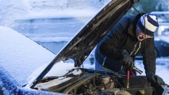Photo of jump starting a car