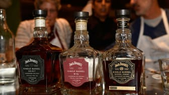 WASHINGTON, DC - DECEMBER 07:General view of Jack Daniels whiskey bottles at Sip, Simmer & Savor , A Culinary Event Series By The Jack Daniel's Single Barrel Collection on December 7, 2016 in