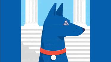 blue watchdog on alert
