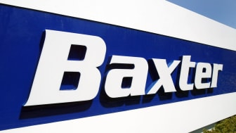 DEERFIELD, IL - APRIL 28: Baxter signage is visible outside its corporate offices April 28, 2004 in Deerfield, Illinois. Baxter International Inc. reported a first quarter sales growth of 11