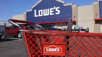 Greenville - Circa April 2018: Lowe's Home Improvement Warehouse. Lowe's operates retail home improvement and appliance stores in North America I