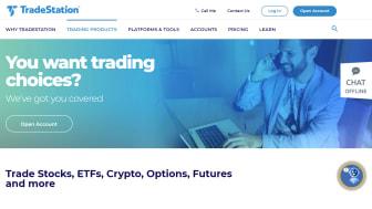 screenshot of TradeStation home page