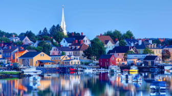 The historic fishing village of Portsmouth, New Hampshire