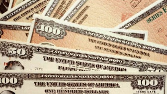 A collection of United States debt certificates.