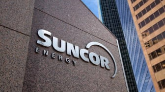 """Calgary, Alberta - April 2, 2012: Suncor Energy's head office in Calgary Alberta.Suncor is one of the major developers of the Alberta Oilsands, as well as holding international developments"