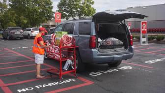 Curbside order pickup at Target.