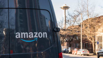 Amazon Prime delivery truck in Seattle