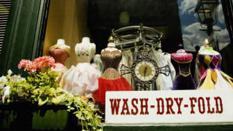 picture of laundry store front window