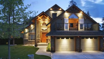 Exterior light on a single family home