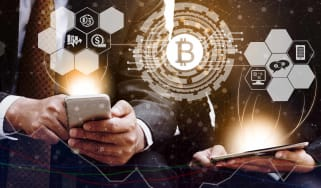 bitcoin and cryptocurrency trading concept