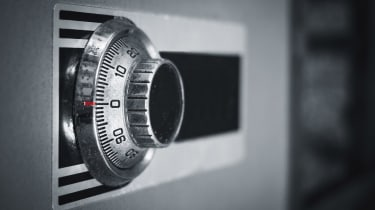 Safe lock code on safety box bank security Protection
