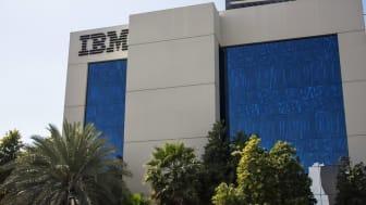Dubai, UAE - March 4, 2012: IBM headquarters in Dubai, UAE. IBM headquarters is located in the vast territory of Dubai Internet City. One of the oldest and largest companies in the world in t
